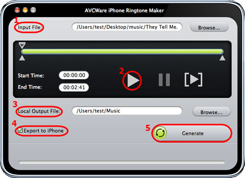 AVCWare iPhone Ringtone Maker for Mac Guide